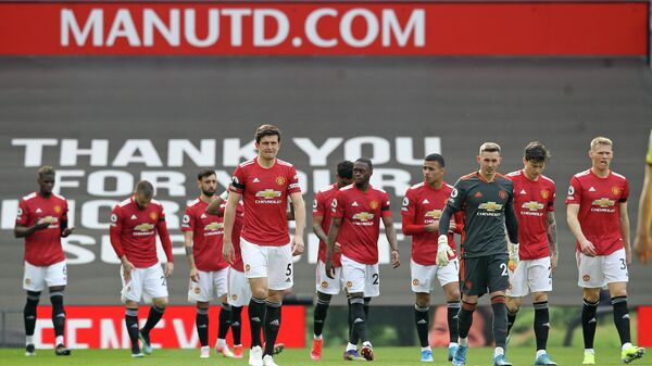 Футболисты Манчестер Юнайтед.
