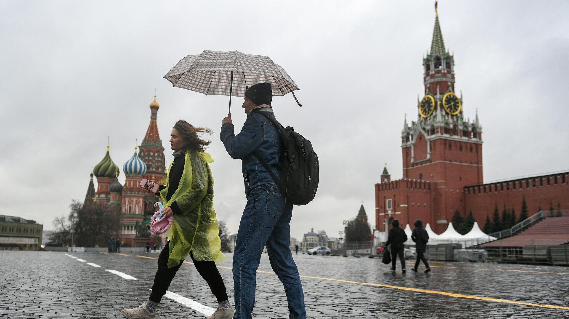 Дождь в Москве - РИА Новости, 1920, 25.04.2021