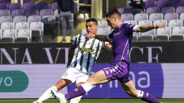 Игровой момент матча чемпионата Италии Фиорентина - Ювентус