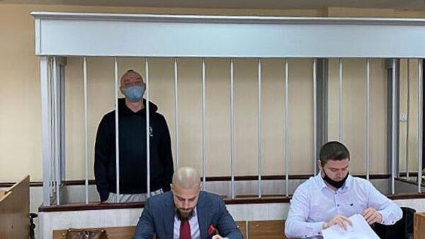 Журналист Иван Сафронов, обвиняемый в государственной измене, на заседании Лефортовского суда города Москвы