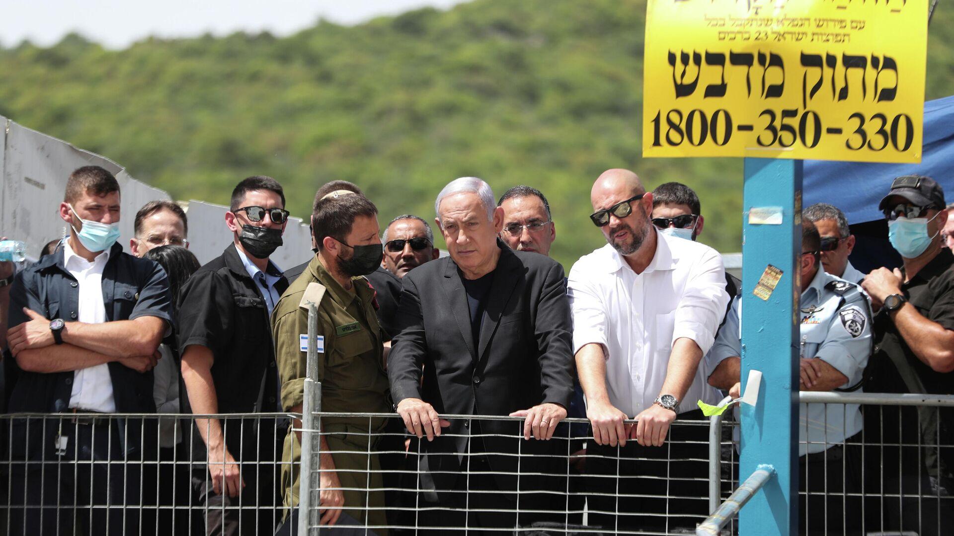 Премьер-министр Израиля Биньямин Нетаньяху посетил гору Мерон на севере Израиля - РИА Новости, 1920, 30.04.2021
