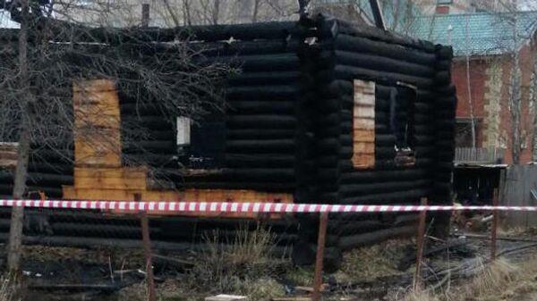 На месте пожара в частном доме в Пермском крае