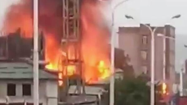 В микрорайоне Сино в Душанбе взорвалась АЗС