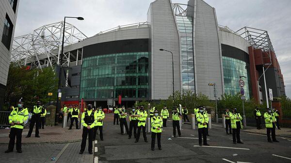 Полицейский отряд у Олд Траффорд