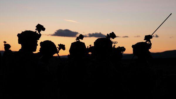 Американские военнослужащие во время учений