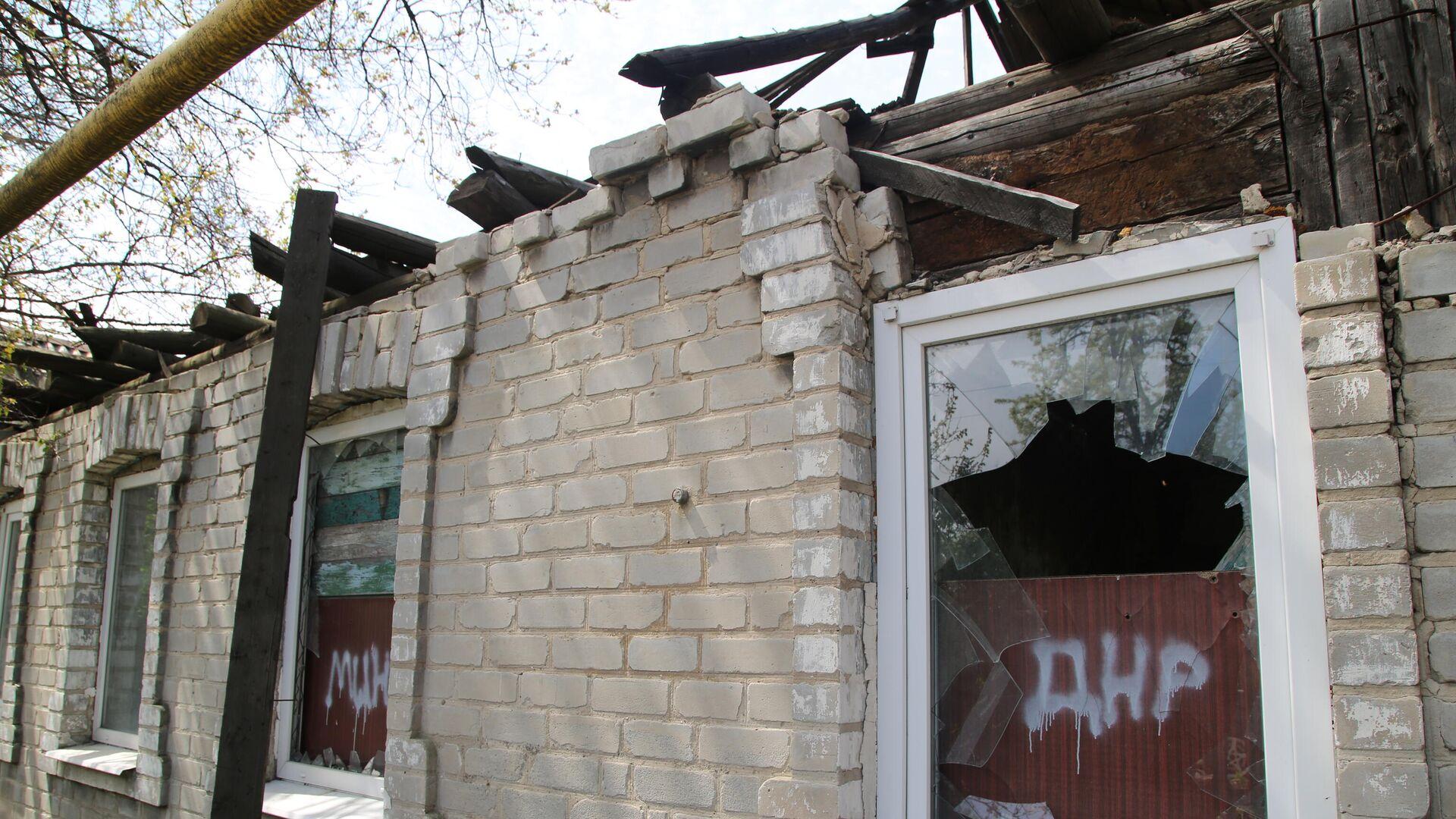 Последствия обстрела в Киевском районе Донецка - РИА Новости, 1920, 15.06.2021