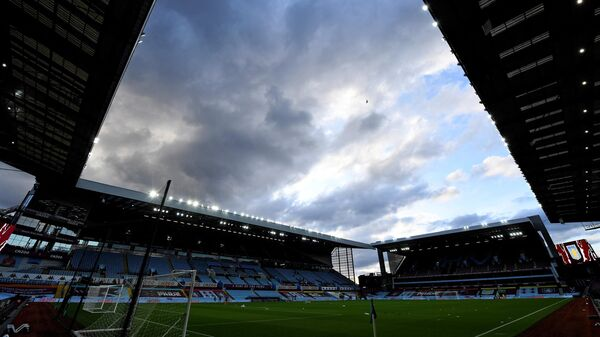 Villa Park stadium is pictured in Birmingham, central England on October 1, 2020, ahead of the English League Cup fourth round football match between Aston Villa and Stoke. (Photo by PETER POWELL / POOL / AFP) / RESTRICTED TO EDITORIAL USE. No use with unauthorized audio, video, data, fixture lists, club/league logos or 'live' services. Online in-match use limited to 120 images. An additional 40 images may be used in extra time. No video emulation. Social media in-match use limited to 120 images. An additional 40 images may be used in extra time. No use in betting publications, games or single club/league/player publications. /