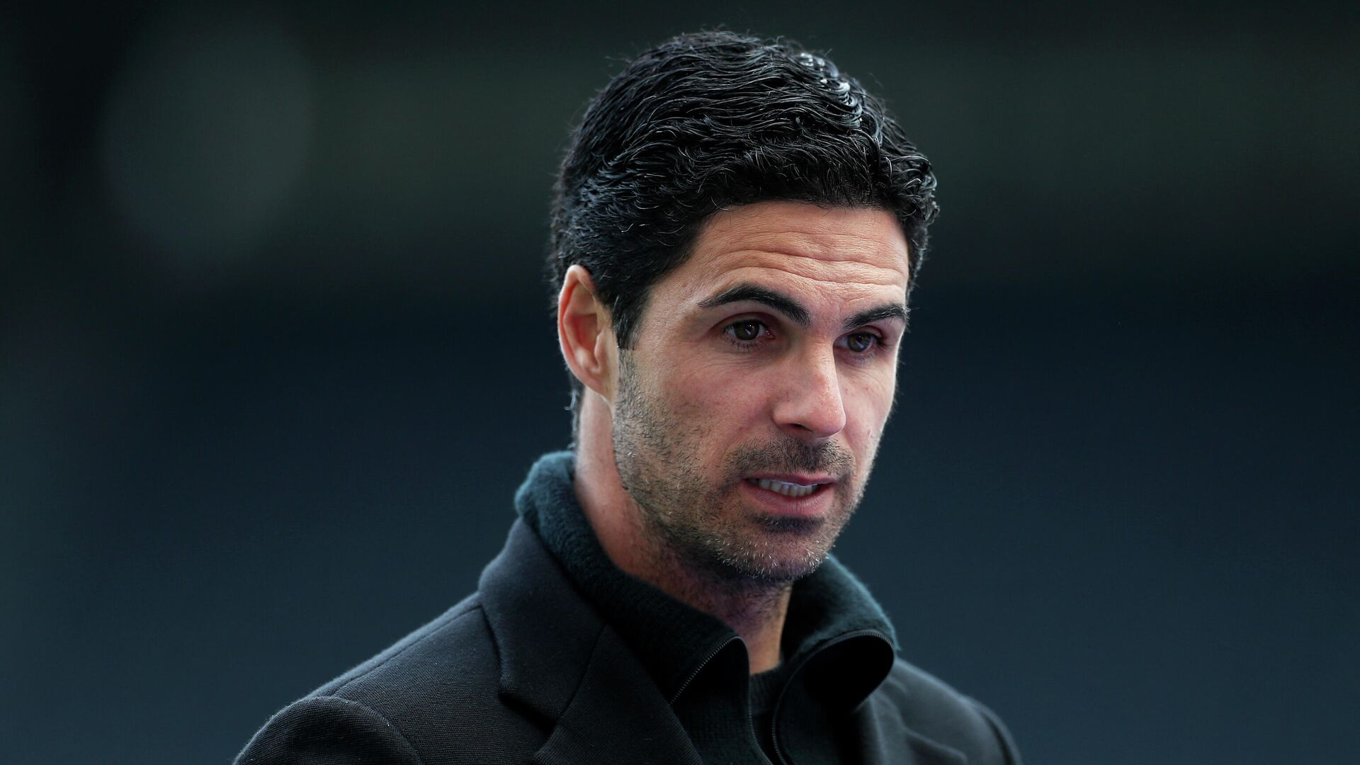 Arsenal's Spanish manager Mikel Arteta speaks to the media after the English Premier League football match between Newcastle United and Arsenal at St James' Park in Newcastle-upon-Tyne, north east England on May 2, 2021. (Photo by LEE SMITH / POOL / AFP) / RESTRICTED TO EDITORIAL USE. No use with unauthorized audio, video, data, fixture lists, club/league logos or 'live' services. Online in-match use limited to 120 images. An additional 40 images may be used in extra time. No video emulation. Social media in-match use limited to 120 images. An additional 40 images may be used in extra time. No use in betting publications, games or single club/league/player publications. /  - РИА Новости, 1920, 07.05.2021