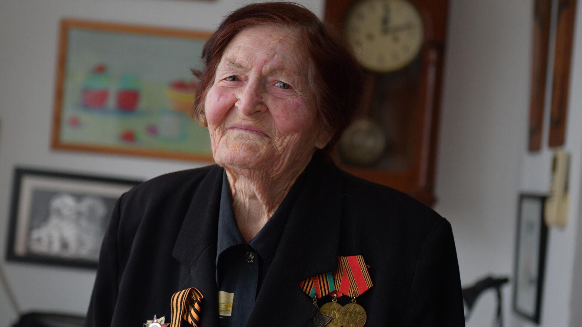 Ветеран Великой Отечественной войны Валентина Шульгина - РИА Новости, 1920, 07.05.2021