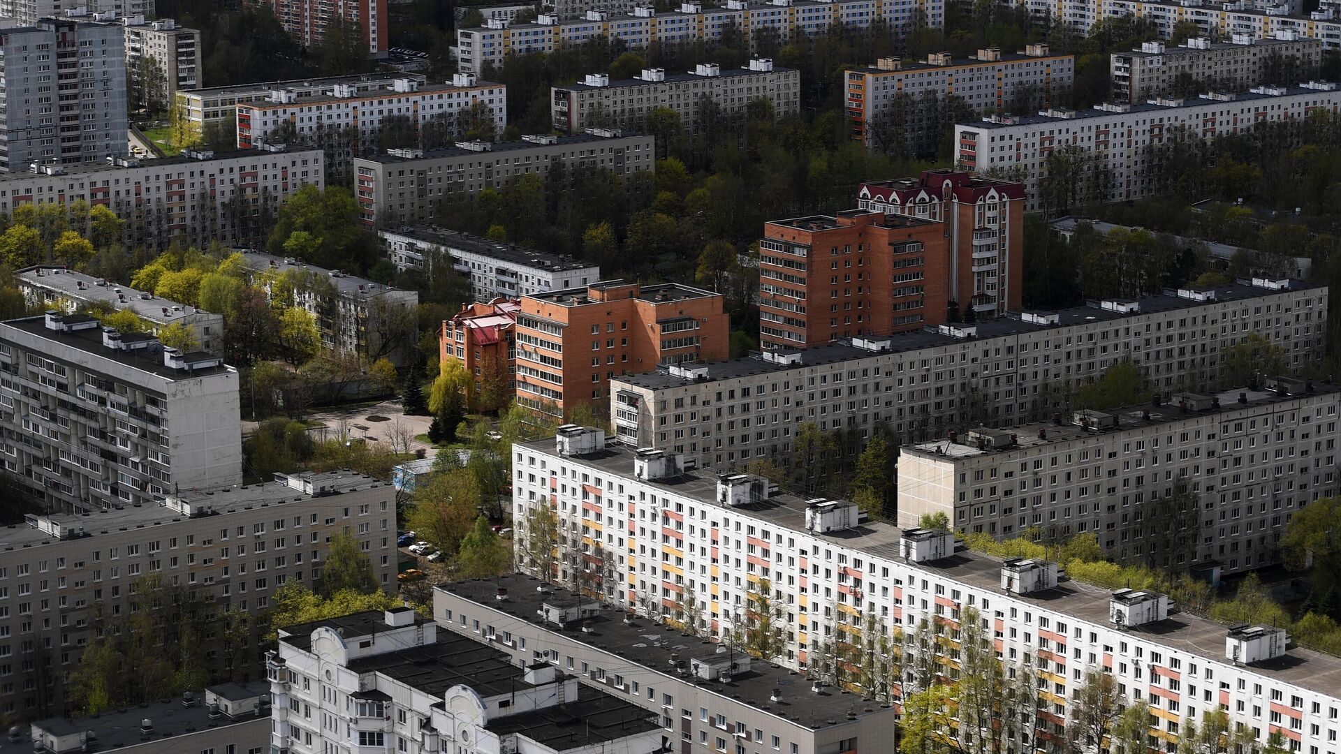 Жилые дома в одном из районов Москвы - РИА Новости, 1920, 07.06.2021