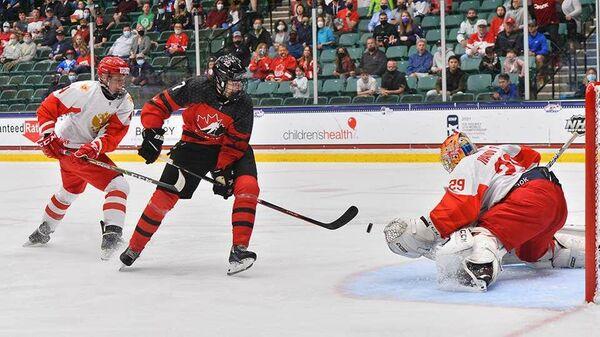 Финал юниорского чемпионата мира по хоккею между сборными России и Канады