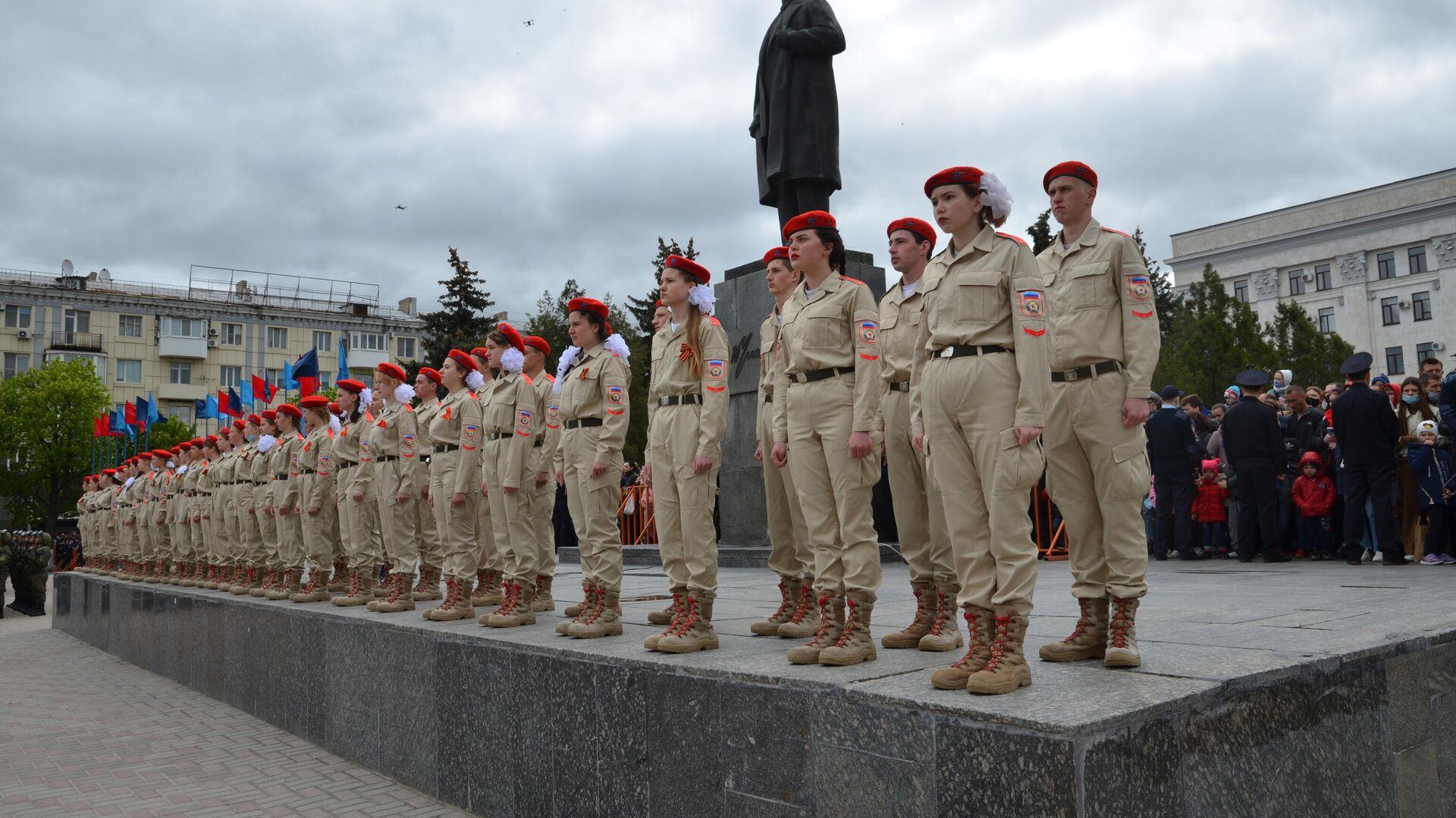 Парад в честь 76-й годовщины Победы в Великой Отечественной войне в Луганске - РИА Новости, 1920, 09.05.2021