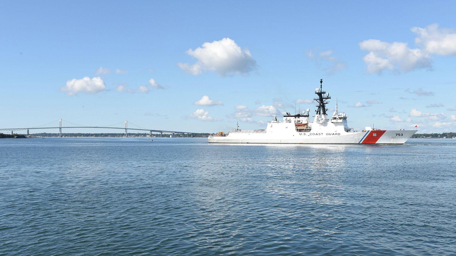 Корабль американской береговой охраны USCGC Hamilton (WMSL-753) - РИА Новости, 1920, 16.07.2021