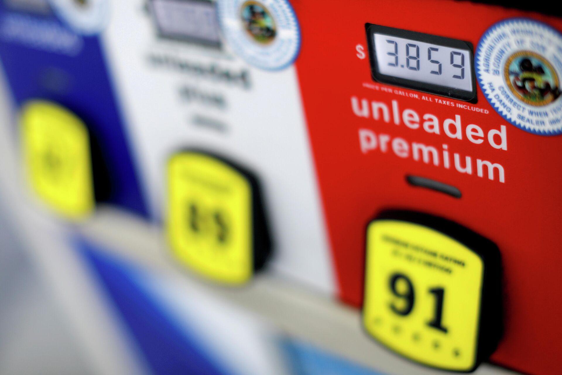 Цена на бензин на автозаправке в Сан-Диего, США - РИА Новости, 1920, 11.05.2021