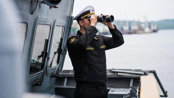 Заместитель командира корвета проекта 20380 Совершенный капитан-лейтенант Анатолий Лобастов.