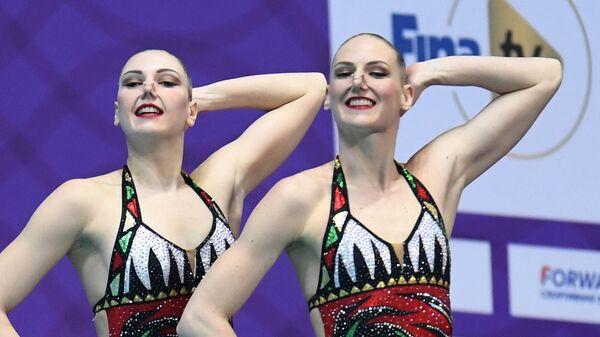Синхронное плавание. III этап Мировой серии FINA. Дуэт. Техническая программа