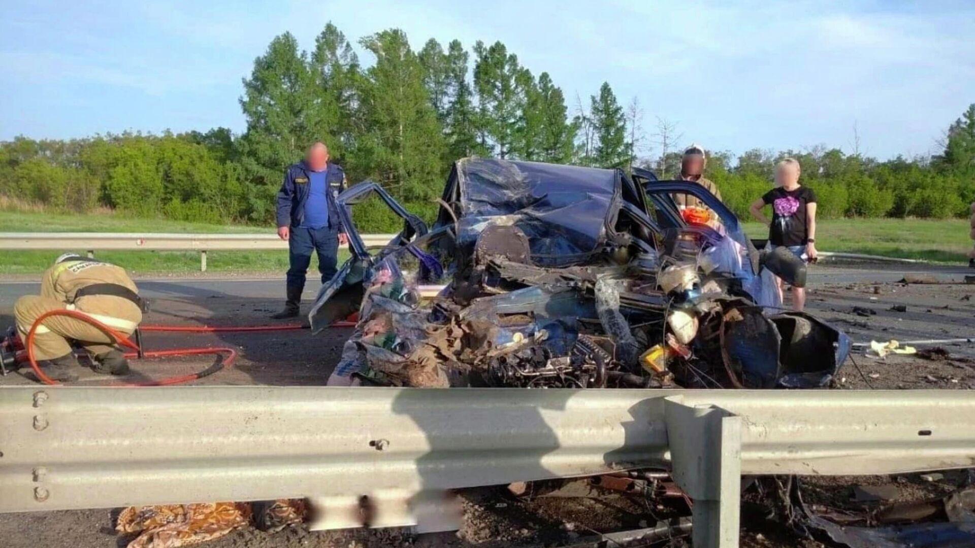 На юге Красноярского края десять человек пострадали в ДТП с маршруткой