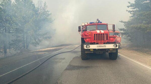 Тушение пожара в Тюменской области