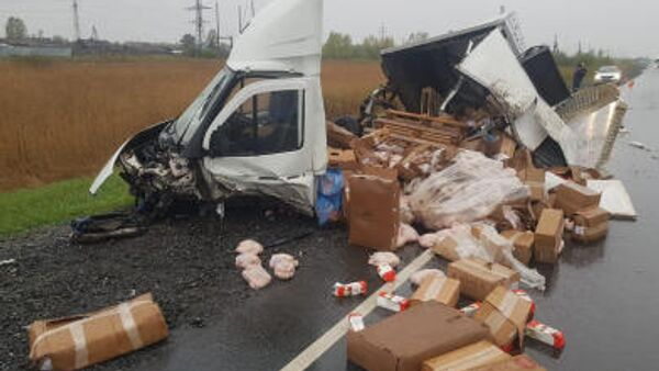 ДТП на участке федеральной трассы Сибирь в Красноярском крае, где погибли пять человек