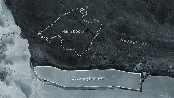 Сравнительные размеры острова Мальорка и айсберга А-76