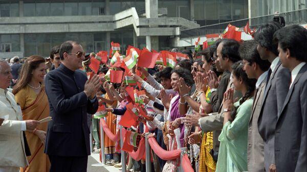 Официальный дружественный визит в СССР премьер-министра Республики Индии Раджива Ганди
