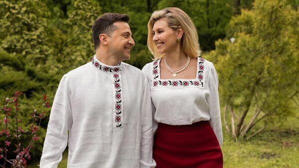 Президент Украины Владимир Зеленский с супругой Еленой