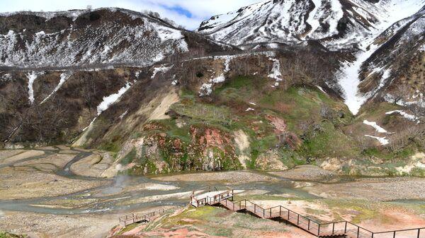 Долина гейзеров на территории Кроноцкого государственного природного биосферного заповедника на Камчатке