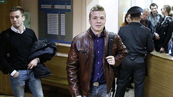 Роман Протасевич в суде города Минска