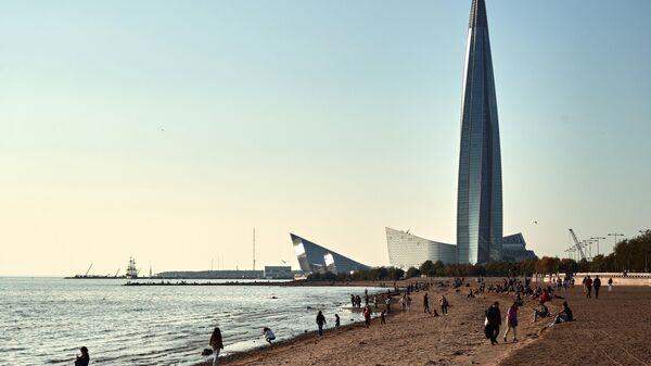 Башня многофункционального делового комплекса Лахта-центр в Санкт-Петербурге