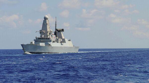 Эскадренный миноносец противовоздушной обороны HMS Dragon Королевского военно-морского флота Великобритании