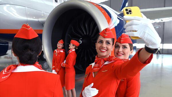 Презентация самолётов нового типа в парке Аэрофлота Airbus A321/320neo