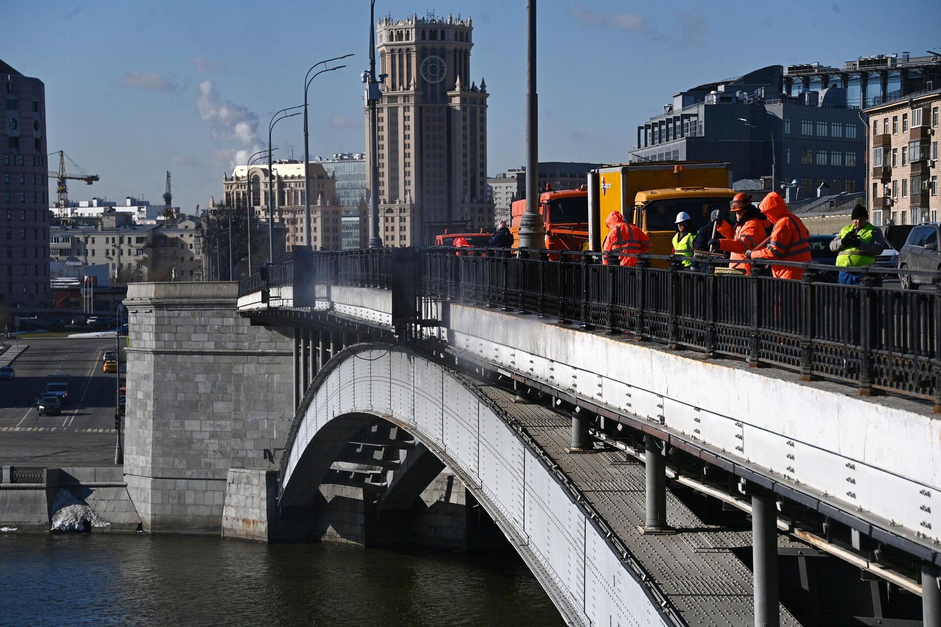 Промывка Большого Краснохолмского моста - РИА Новости, 1920, 28.05.2021