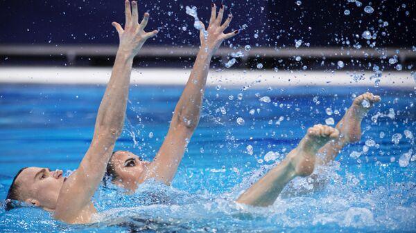 Синхронное плавание. Чемпионат Европы. Смешанный дуэт. Техническая программа