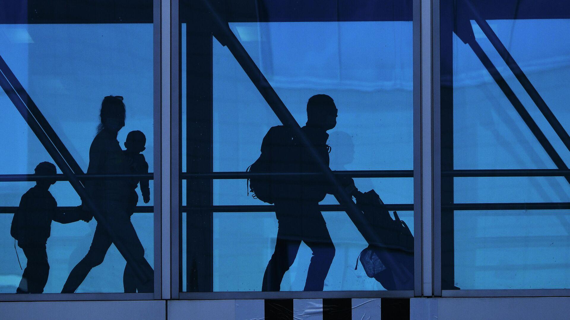 Пассажиры в аэропорту Домодедово имени М. В. Ломоносова - РИА Новости, 1920, 14.06.2021