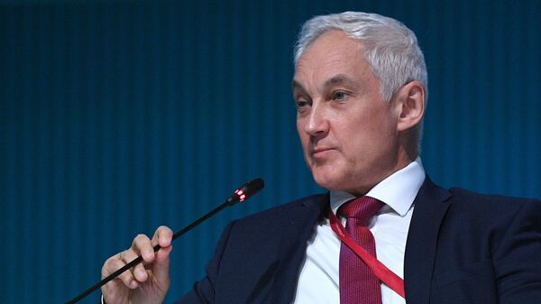 Первый заместитель председателя правительства РФ Андрей Белоусов на Петербургском международном экономическом форуме - 2021