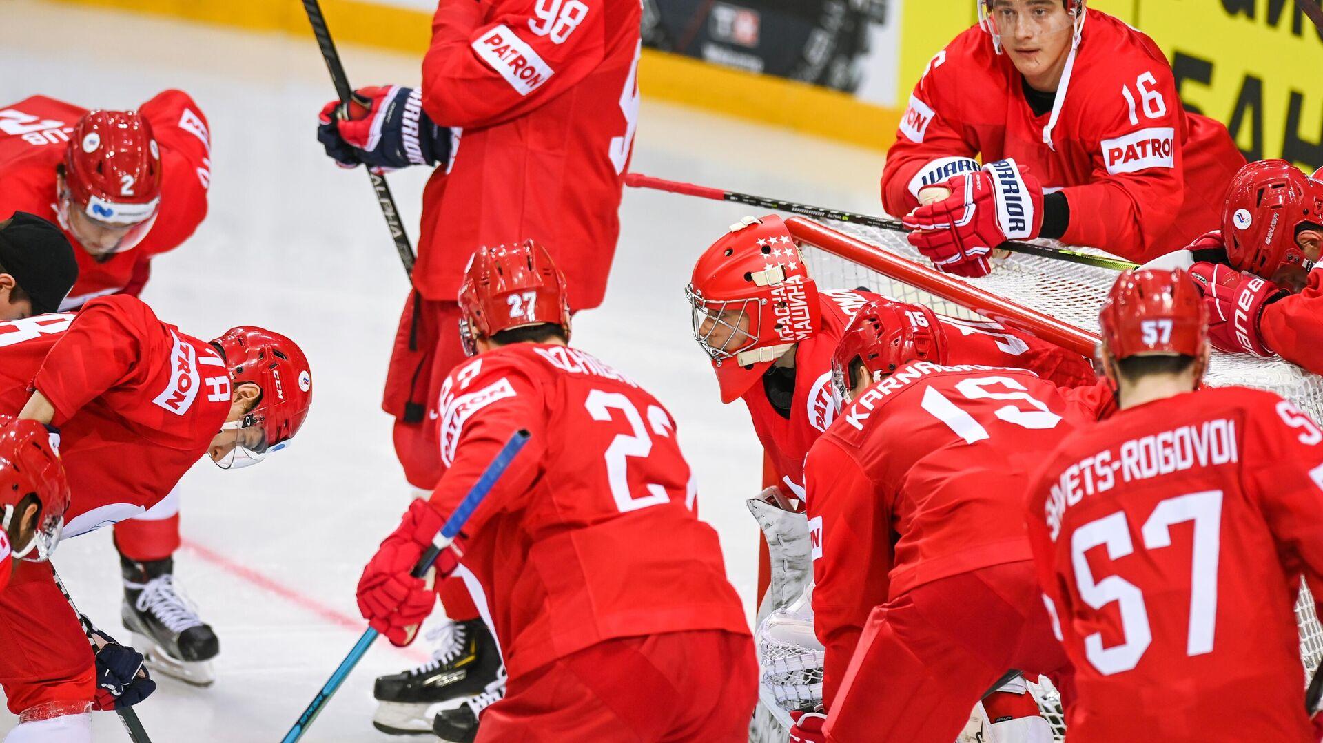 Хоккеисты сборной России - РИА Новости, 1920, 03.06.2021