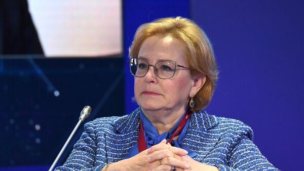 Руководитель Федерального медико-биологического агентства (ФМБА) Вероника Скворцова на ПМЭФ-2021