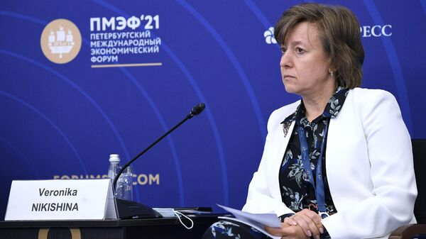 Генеральный директор АО Российский экспортный центр Вероника Никишина