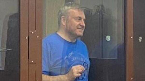 Бывший генеральный директор лизинговой компании Трансфин-М Дмитрий Зотов, подозреваемый в мошенничестве, на заседании Тверского районного суда