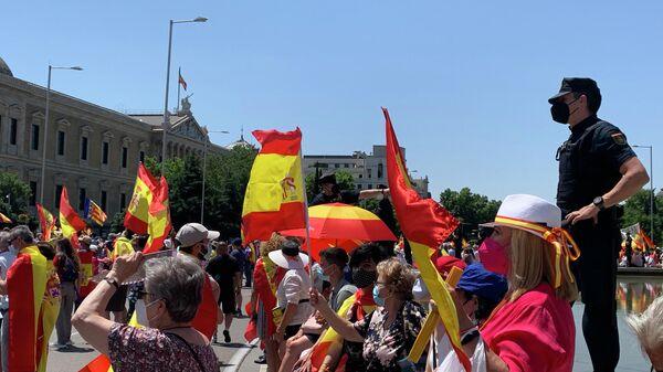 Акция против помилования каталонских политиков в Мадриде