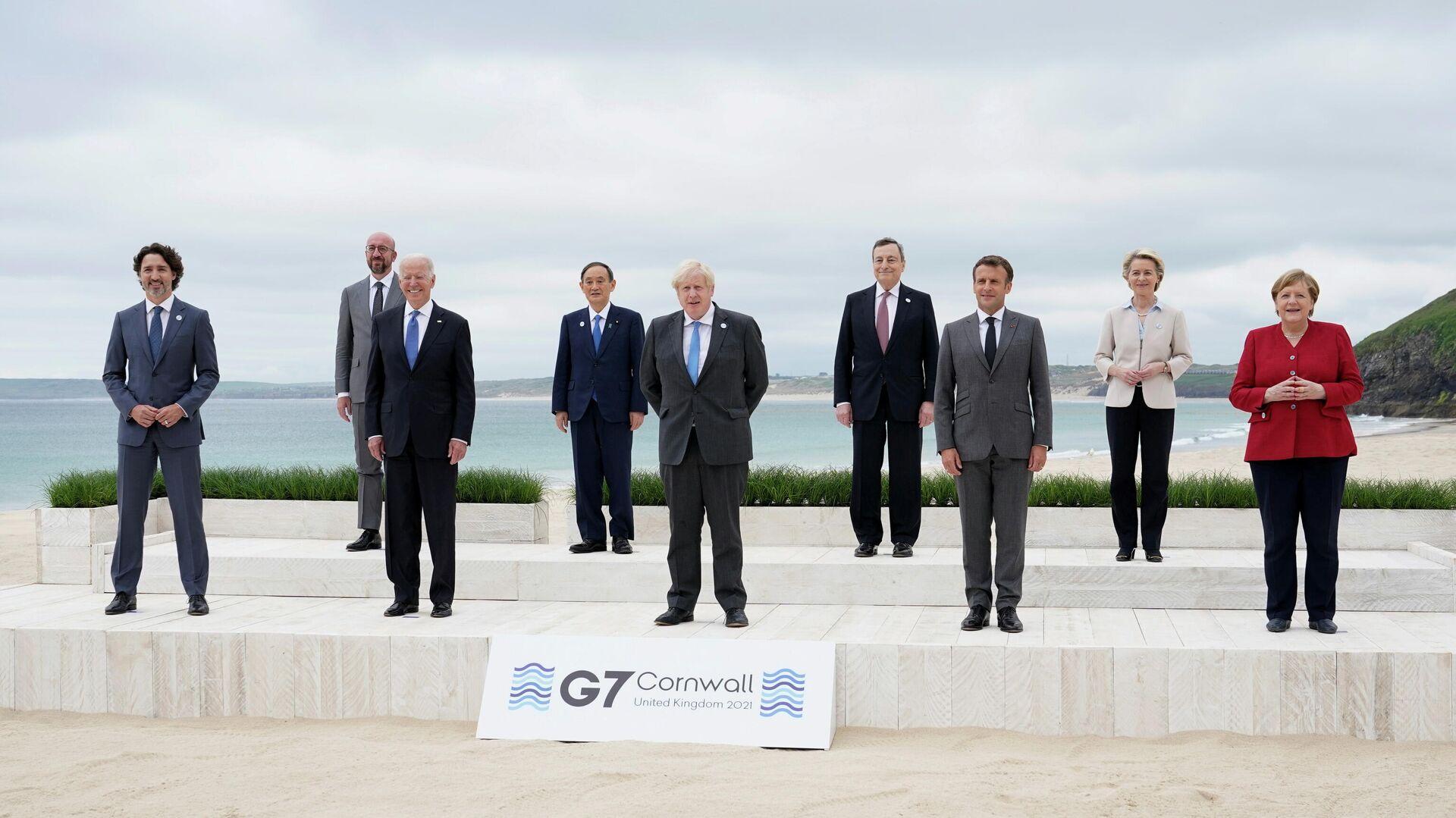 Участники саммита G7 в Великобритании - РИА Новости, 1920, 15.06.2021