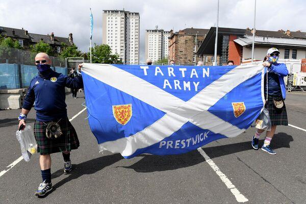 Болельщики сборной Шотландии