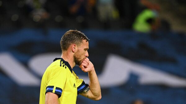 Нападающий сборной Швеции Маркус Берг