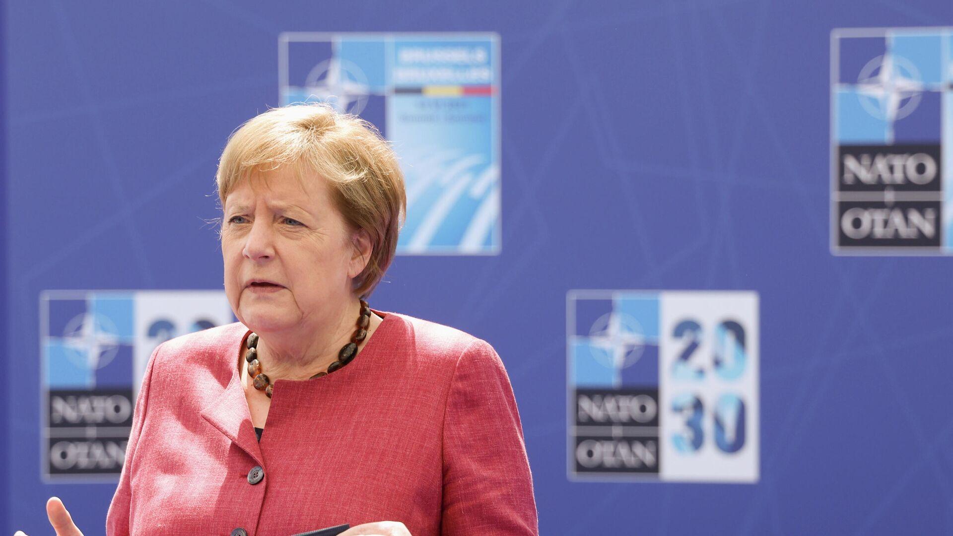 Канцлер Германии Ангела Меркель на саммите НАТО в Брюсселе - РИА Новости, 1920, 19.06.2021