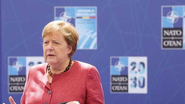 Канцлер Германии Ангела Меркель на саммите НАТО в Брюсселе