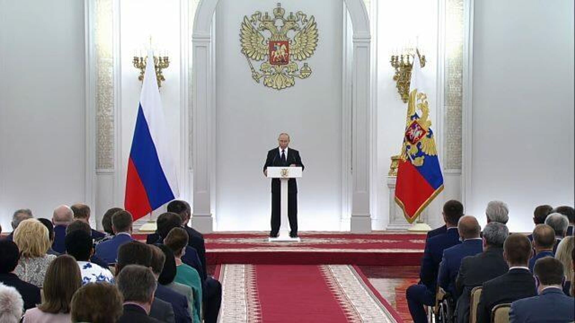 Думать, заботиться о людях – Путин назвал главные задачи парламента - РИА Новости, 1920, 21.06.2021