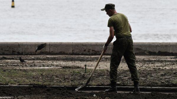 Ликвидация последствий наводнения в Ялте