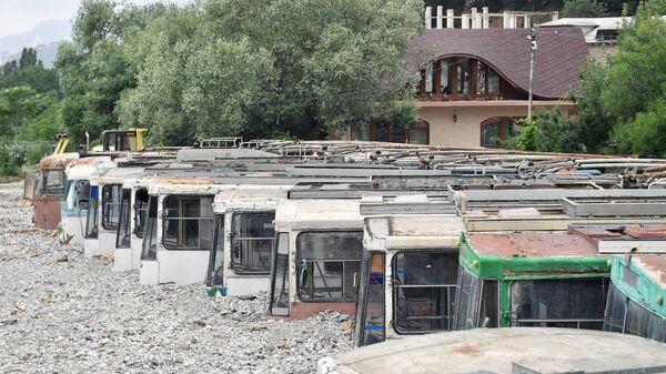 Ситуация на улице Джафера Сейдамета в Ялте после наводнения
