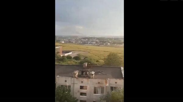 Место крушения вертолета Ми-8 в Ленинградской области