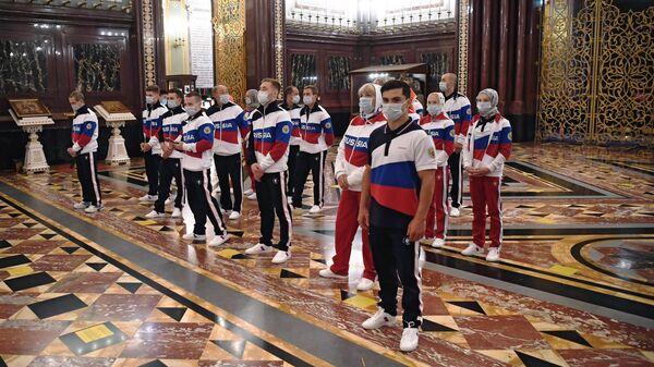Молебен перед отъездом российских спортсменов в Токио